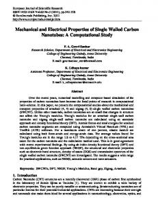 Mechanical and Electrical Properties of Single