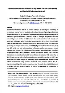 Mechanical and leaching behaviour of slag-cement ...