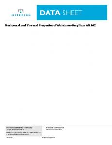 Mechanical and Thermal Properties of Aluminum ... - Materion