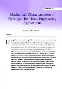Mechanical Characterisation of Hydrogels for Tissue Engineering ...