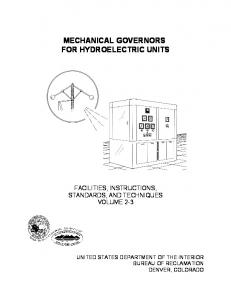 Mechanical Governors for Hydroelectric Units, July 2002