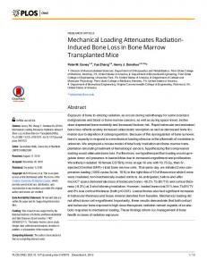 Mechanical Loading Attenuates Radiation-Induced