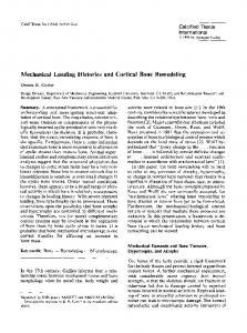 Mechanical loading histories and cortical bone remodeling