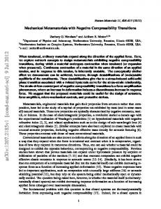 Mechanical Metamaterials with Negative Compressibility Transitions