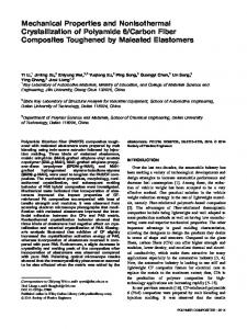 Mechanical properties and nonisothermal ... - Wiley Online Library