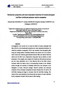 Mechanical properties and water absorption behaviour of treated ...