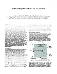 Mechanical Properties of 3C Thin-Film Silicon Carbide