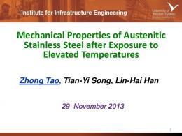 Mechanical Properties of Austenitic Stainless Steel ...