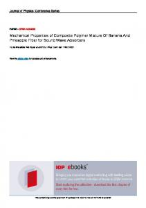Mechanical Properties of Composite Polymer