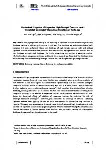 Mechanical Properties of Expansive High-Strength Concrete under