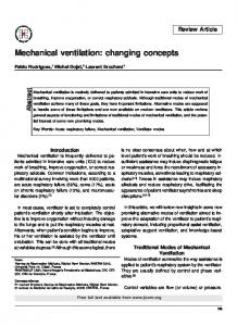 Mechanical ventilation: changing concepts - TSpace