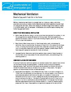 Mechanical Ventilation - Energy Star