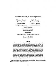 Mechanism Design and Payments∗