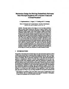Mechanism Design for Eliciting Probabilistic Estimates from Multiple ...