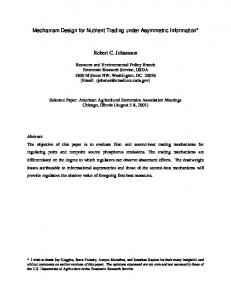 Mechanism Design for Nutrient Trading under ... - AgEcon Search