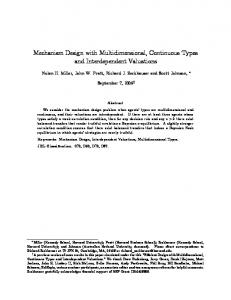 Mechanism design with multidimensional, continuous types and ...