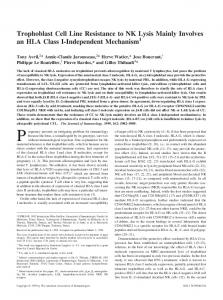 Mechanism I-Independent Mainly Involves an HLA Class Trophoblast ...