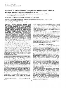 Mechanism of Action of Cholera Toxin and the ... - Semantic Scholar