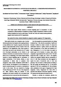 MECHANISM OF BACTERICIDAL ACTIVITY OF SILVER ... - Scielo.br