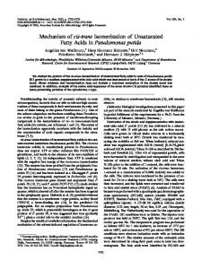 Mechanism of cis-trans Isomerization of Unsaturated Fatty Acids in ...