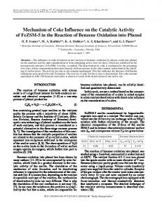 Mechanism of Coke Influence on the Catalytic Activity ... - Springer Link