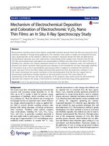Mechanism of Electrochemical Deposition and Coloration of ...