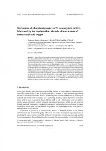 Mechanism of photoluminescence of Si nanocrystals in SiO2 ...