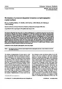 Mechanism of promoted dipeptide formation on ... - CORE