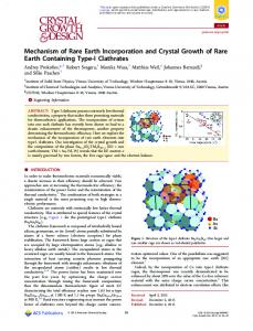 Mechanism of Rare Earth Incorporation and ... - ACS Publications