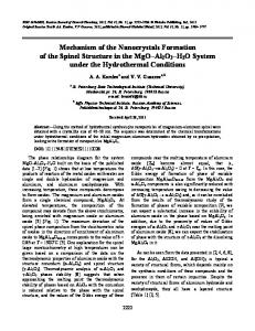Mechanism of the nanocrystals formation of the spinel structure in the
