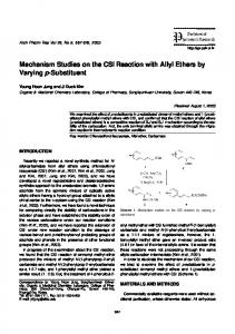 Mechanism Studies on the CSI Reaction with Allyl ... - Semantic Scholar
