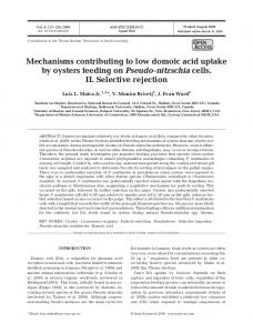Mechanisms contributing to low domoic acid uptake ... - Inter Research
