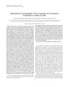 Mechanisms of Extrahepatic Tumor Induction by Peroxisome ...