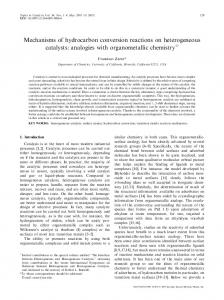 Mechanisms of hydrocarbon conversion reactions on heterogeneous ...