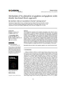 Mechanisms of Na adsorption on graphene and ...