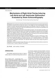 Mechanisms of Right Atrial Pacing Inducing Left Atrial and Left ...