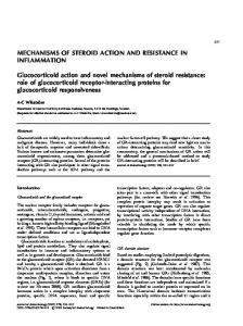 MECHANISMS OF STEROID ACTION AND RESISTANCE IN ...
