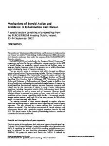 Mechanisms of Steroid Action and Resistance in Inflammation and ...