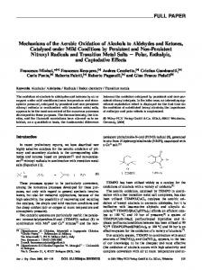 Mechanisms of the Aerobic Oxidation of Alcohols to Aldehydes and ...