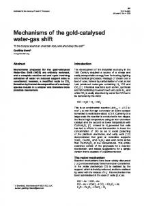 Mechanisms of the gold-catalysed water-gas shift - Springer Link