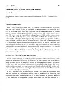Mechanisms of Water Catalysed Reactions - MDPI