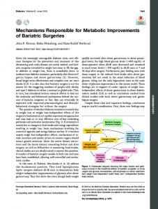 Mechanisms Responsible for Metabolic Improvements of ... - Diabetes