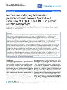 Mechanisms underlying Actinobacillus ... - BioMedSearch