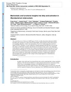 Mechanistic and functional insights into fatty acid ... - BioMedSearch