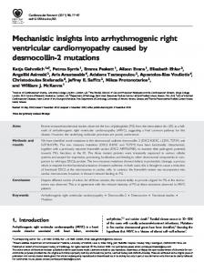 Mechanistic insights into arrhythmogenic right ... - BioMedSearch