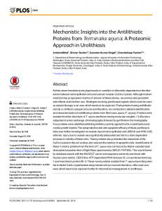 Mechanistic Insights into the Antilithiatic Proteins ... - Semantic Scholar