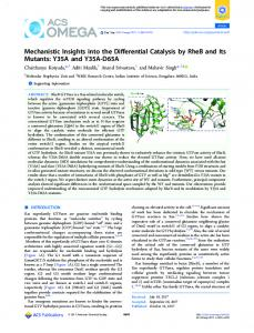 Mechanistic Insights into the Differential Catalysis ... - ACS Publications