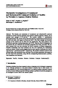 Mechanistic Investigations of Uncatalyzed and ... - Springer Link