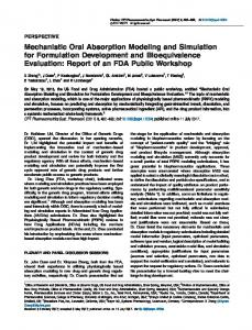 Mechanistic Oral Absorption Modeling and