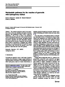 Mechanistic pathways for the reaction of quercetin with ... - Springer Link